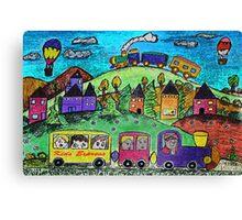 Kids Express Canvas Print
