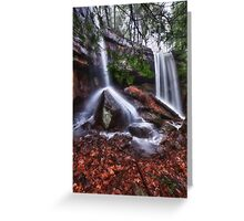 Double Waterfall Greeting Card