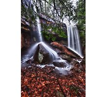 Double Waterfall Photographic Print