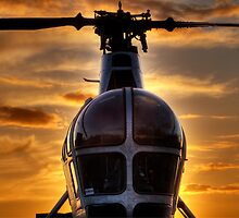 Helicopter Chatham Dockyard by Robert Radford