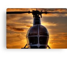 Helicopter Chatham Dockyard Canvas Print