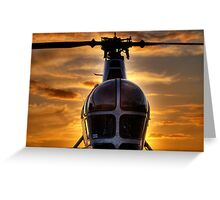 Helicopter Chatham Dockyard Greeting Card