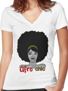 The Afro Chic Women's Fitted V-Neck T-Shirt