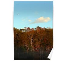 Early Moon Over Cumberland Ridge Poster