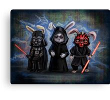 Sith Bunnies- Star Wars Parody Canvas Print