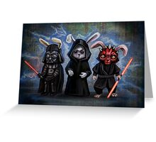 Sith Bunnies- Star Wars Parody Greeting Card
