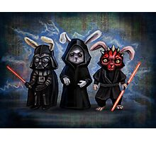 Sith Bunnies- Star Wars Parody Photographic Print