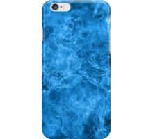 Blue fire and patterns iPhone Case/Skin