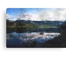 Reflected Reservoir Clouds on a March Day Canvas Print
