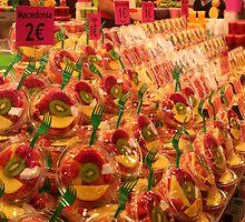 Boqueria market Barcelona - Tropical Fruits by Ilan Cohen