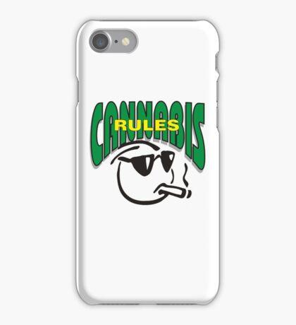 Cannabis Rules iPhone Case/Skin
