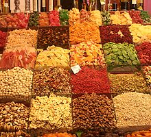 Boqueria market Barcelona - Dried Fruits by Ilan Cohen