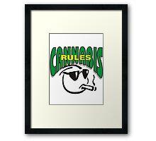 Cannabis Rules Framed Print