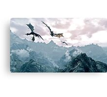 Flying dragon Canvas Print