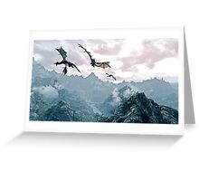 Flying dragon Greeting Card
