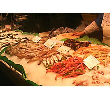 Boqueria market Barcelona - Straight from the Sea Photographic Print