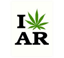 I Marijuana Arkansas Art Print