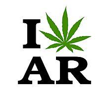 I Marijuana Arkansas Photographic Print