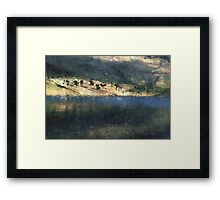 Sunkissed Trees on the Water's Edge Framed Print