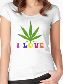 I Love Marijuana Women's Fitted Scoop T-Shirt
