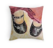 Marie-Jeanne, acrylic on canvas Throw Pillow