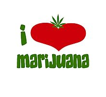 I Love Marijuana Photographic Print