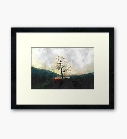 Solitary Tree Overlooking Dovestone Reservoir Framed Print