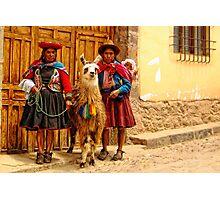 Peruvian cholitas Photographic Print