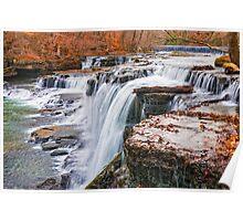 Big Falls in Autumn Dress Poster