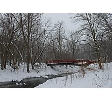 Little Red Foot Bridge Photographic Print