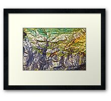 Geologic Abstract Framed Print