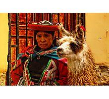 Peruvian women's expression Photographic Print