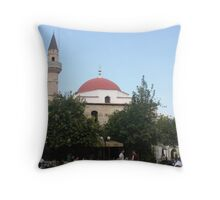 Kos - Mosque and Church  in the center Throw Pillow