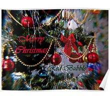 Merry Christmas Red Bubble Friends Poster