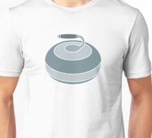Curling Rock in Teal Unisex T-Shirt