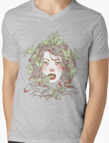 Peppermint Girl Mens V-Neck T-Shirt