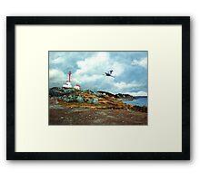 Blue Heron  Yarmouth Light Framed Print