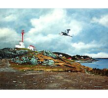 Blue Heron  Yarmouth Light Photographic Print