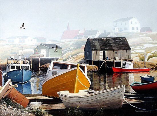 Colourful Cove by Frank Boudreau
