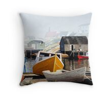 Colourful Cove Throw Pillow