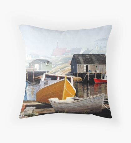 Colourful Cove Throw Pillow