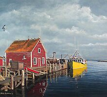 Tied Up - John's Cove by Frank Boudreau