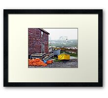 Yellow Skiff - Peggy's Cove Framed Print