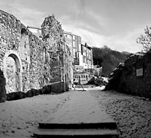 St James Old Church Panorama b/w by Dave Godden