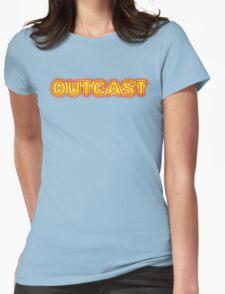Funny Marijuana Outcast Womens Fitted T-Shirt