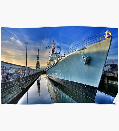HMS Cavalier Chatham Historic Dockyard Poster