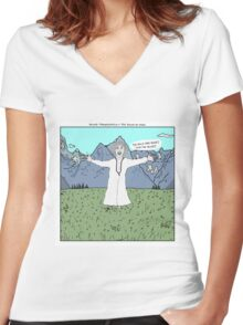 Young Frankenstein + The Sound of Music Women's Fitted V-Neck T-Shirt
