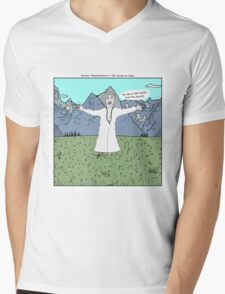 Young Frankenstein + The Sound of Music Mens V-Neck T-Shirt