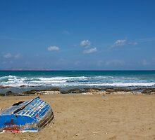 blue boat by garish82