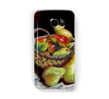 Pears and Apples  Pastel painting Samsung Galaxy Case/Skin